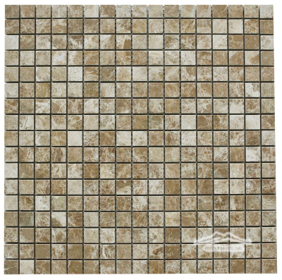 "Light Brown Emperador Marble 5/8"" x 5/8"" Mosaic"