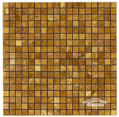 """Persian Gold Travertine 5/8"""" x 5/8"""" Mosaic Polished"""