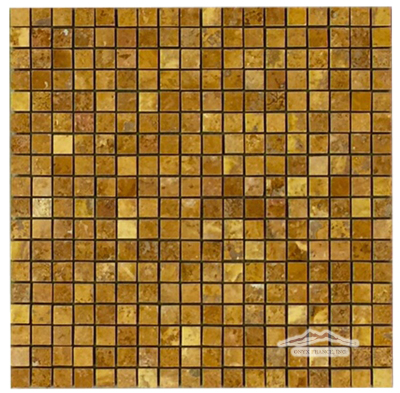 "Persian Gold Travertine 5/8"" x 5/8"" Mosaic Polished"