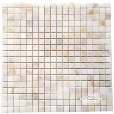"""Afyon Sugar Marble 5/8"""" x 5/8"""" Mosaic"""