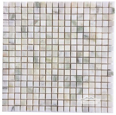 """Alba Chiaro Onyx 5/8"""" x 5/8"""" Mosaic Polished"""