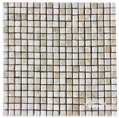 "Alba Chiaro Onyx 5/8"" x 5/8"" Mosaic Tumbled"