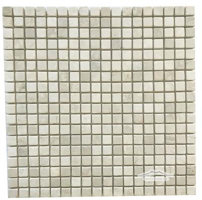 """Botticino Marble 5/8"""" x 5/8"""" Mosaic Tumbled"""