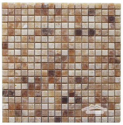 "Caramella Onyx 5/8"" x 5/8"" Mosaic Tumbled"