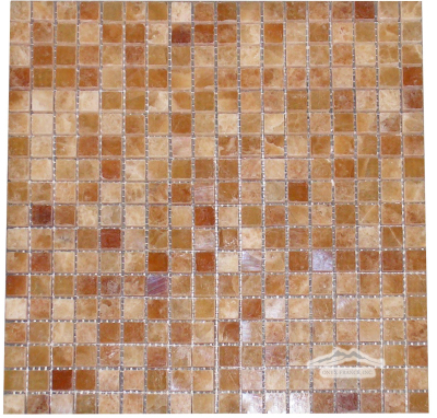 "Caramella Onyx 5/8"" x 5/8"" Mosaic Polished"