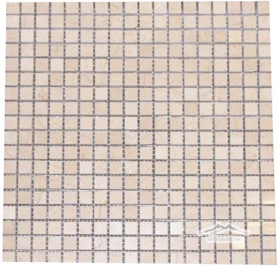 "Cream Marfil Marble 5/8"" x 5/8"" Mosaic Polished"