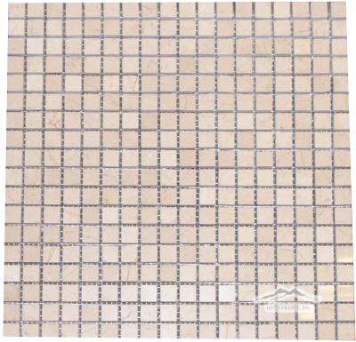 "Cream Marfil Marble 5/8"" x 5/8"" Mosaic Polished"