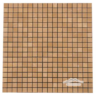 """Golden Beige Marble 5/8"""" x 5/8"""" Mosaic"""