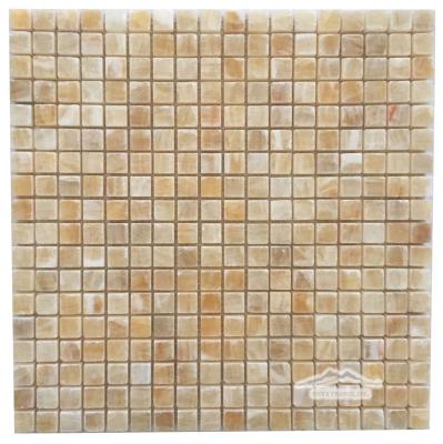 """Golden Honey Onyx 5/8"""" x 5/8"""" Mosaic Polished"""