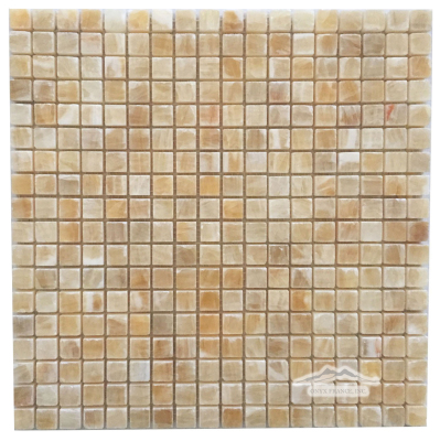 "Golden Honey Onyx 5/8"" x 5/8"" Mosaic Polished"
