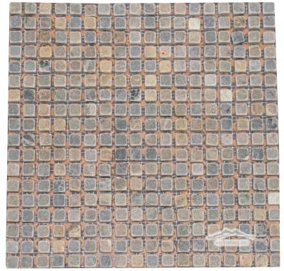 """Green Fantasia/ Green Royal Blue Marble 5/8"""" x 5/8"""" Mosaic"""
