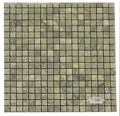"""Green Olivine Marble 5/8"""" x 5/8"""" Mosaic Tumbled"""