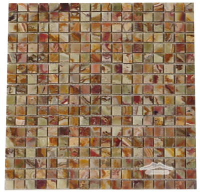 "Green Pistachio Multicolor 5/8"" x 5/8"" Mosaic"