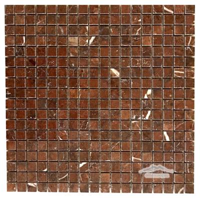 "Maroon Marble 5/8"" x 5/8"" Mosaic Polished"