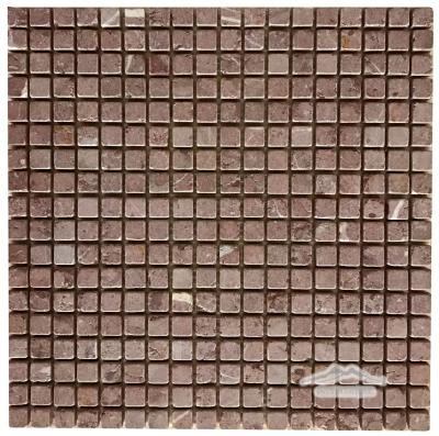 "Maroon Marble 5/8"" x 5/8"" Mosaic Tumbled"