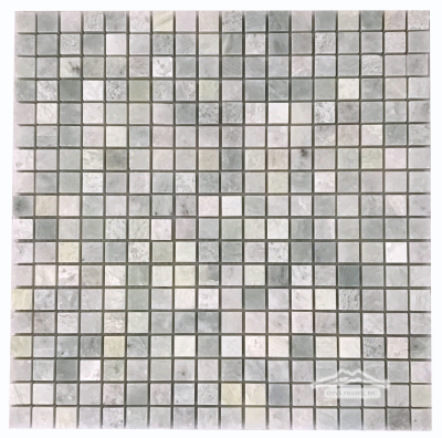 "Ming Green Marble 5/8"" x 5/8"" Mosaic Polished"