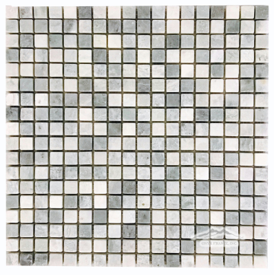 "Ming Green Marble 5/8"" x 5/8"" Mosaic Tumbled"