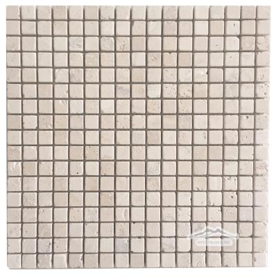 """DurangoTravertine 5/8"""" x 5/8"""" Mosaic Tumbled"""