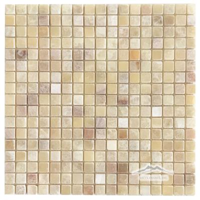 "Rainbow Onyx 5/8"" x 5/8"" Mosaic Tumbled"