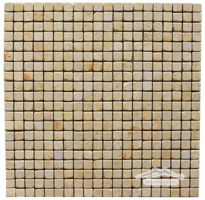 "Renaissance Limestone 5/8"" x 5/8"" Mosaic"