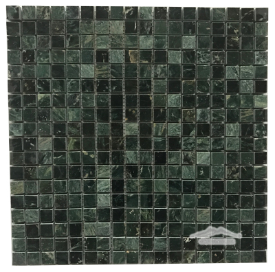 "Verde Gold Marble 5/8"" x 5/8"" Mosaic Polished"