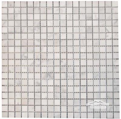 "White Carrara Venatino (Premium) 5/8"" x 5/8"" Mosaic"