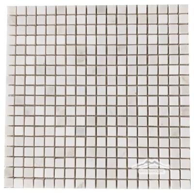 """White Snow Marble 5/8"""" x 5/8"""" Mosaic"""