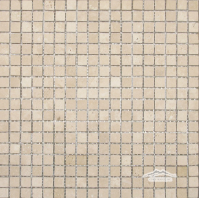 "Durango Travertine 5/8"" x 5/8"" Mosaic Tumbled"