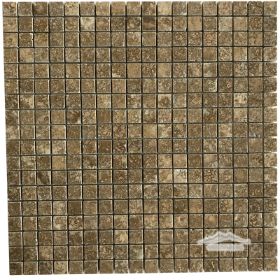 "Noce Travertine 5/8"" x 5/8"" Mosaic Polished"