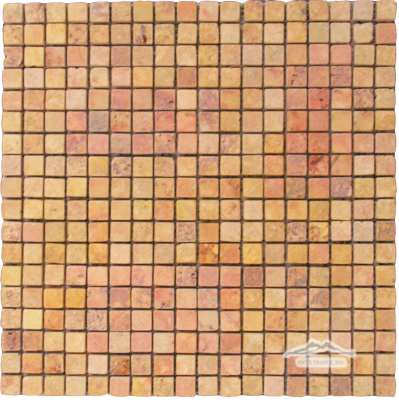 "PeachTravertine 5/8"" x 5/8"" Mosaic"