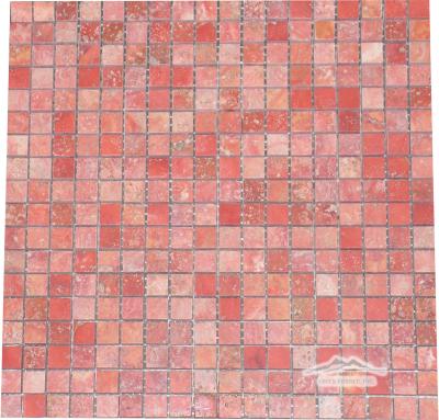"Persian Red Travertine 5/8"" x 5/8"" Mosaic Polished"