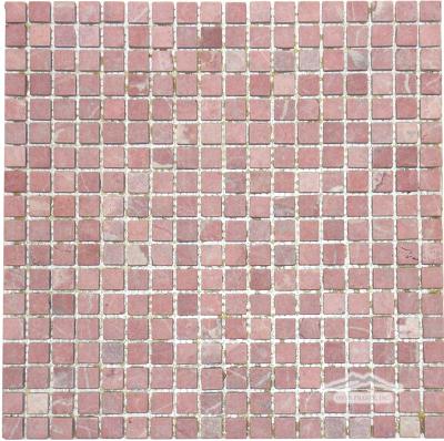 "Rojo Alicante Marble 5/8"" x 5/8"" Mosaic Tumbled"