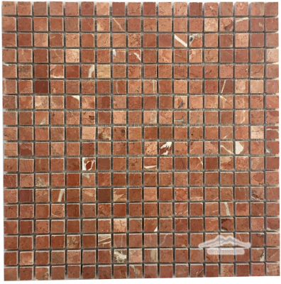 "Rojo Alicante Marble 5/8"" x 5/8"" Mosaic Polished"