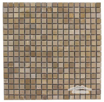 "Gold Lagoon (Lagos Gold) Limestone 5/8"" x 5/8"" Mosaic Honed"