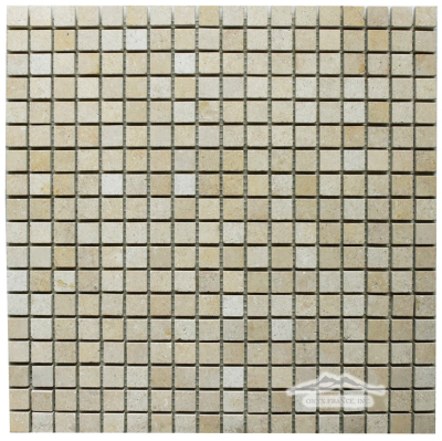 "Giallo Elena Limestone 5/8"" x 5/8"" Mosaic: Honed & Polished"