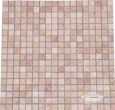"Sunstone (Orro Rosso) Limestone 5/8"" x 5/8"" Mosaic Honed"