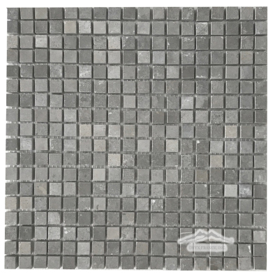 "Blue Lagoon Limestone 5/8"" x 5/8"" Straight Mosaic Honed"