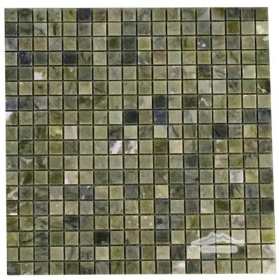 "Green Olivine Marble 5/8"" x 5/8"" Mosaic Polished"