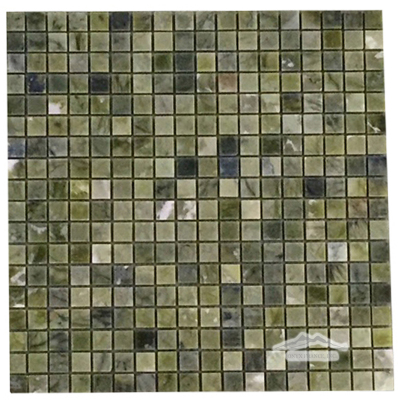 "Green Olivine Marble 5/8"" x 5/8"" Mosaic Polished"