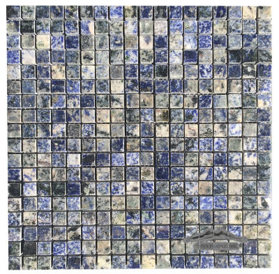 "Blue Bahia Granite 5/8"" x 5/8"" Mosaic"