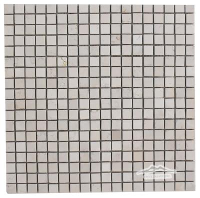 "Bianco Perlino Marble 5/8"" x 5/8"" Mosaic Polished"