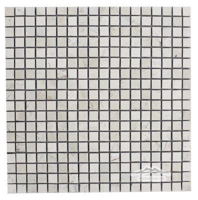 "Bianco Perlino Marble 5/8"" x 5/8"" Mosaic Polished"
