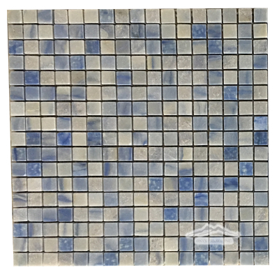 "Blue Macauba Quartzite 5/8"" x 5/8"" Mosaic Polished"
