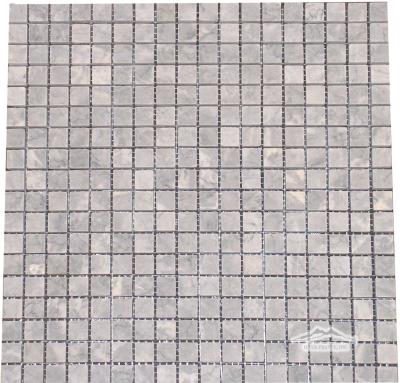 "Grey Mist Marble 5/8"" x 5/8"" Mosaic Honed"