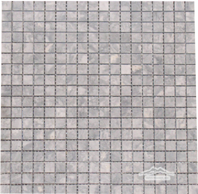 "Grey Mist Marble 5/8"" x 5/8"" Mosaic Polished"