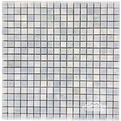 "Blue Celeste Quartzite 5/8"" x 5/8"" Mosaic Polished"