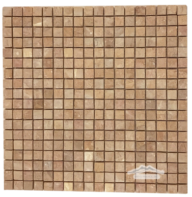 "Giallo Reale Marble 5/8"" x 5/8"" Mosaic Tumbled"