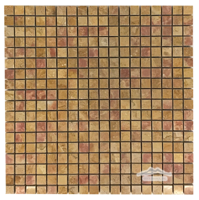 """Giallo Reale Marble 5/8"""" x 5/8"""" Mosaic Polished"""