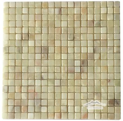"Green Persian Pistachio Onyx 5/8"" x 5/8"" Mosaic Tumbled"