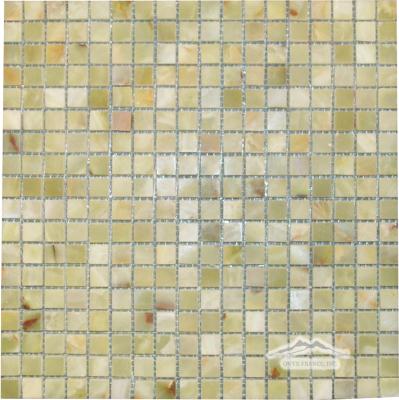 "Green Persian Pistachio Onyx 5/8"" x 5/8"" Mosaic Polished"